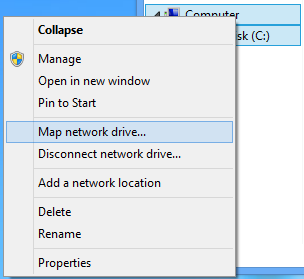 Map a network drive
